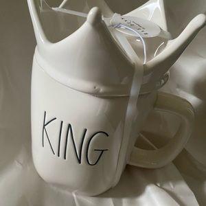 Rae Dunn King Mug with Crown Topper